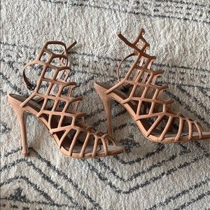 Steve Madden cage heeled sandals, 7.5